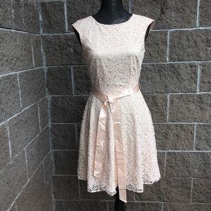 Tahari Arthur S Levine Champagne Sparkle Dress